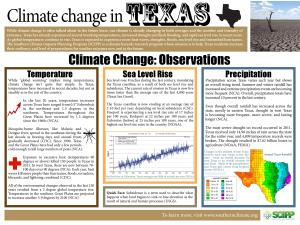 Climate Change in Texas
