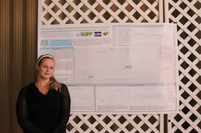 Rebekah won first place at the Southwest AAG conference with her poster and climate change and barrier islands.