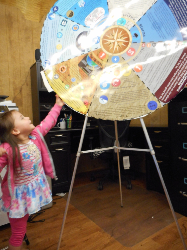 April 2016 Girl Spinning Wheel